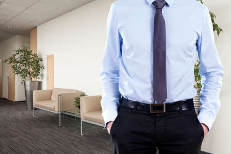 dress code: Man in suit in pursuance of office dress code Stock Photo