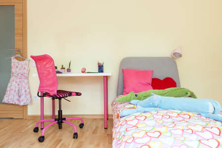 Interior of a little girl room, horizontal photo