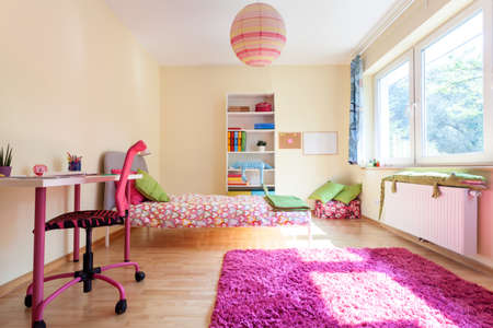 Interior of a modern room for a girl photo