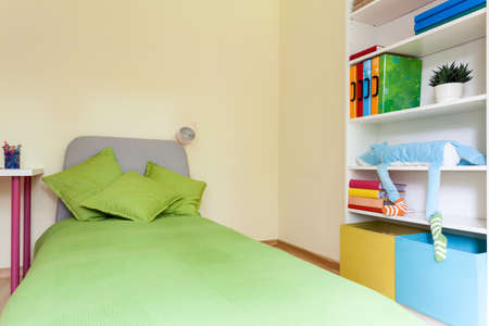 Interior of a bright modern children bedroom photo