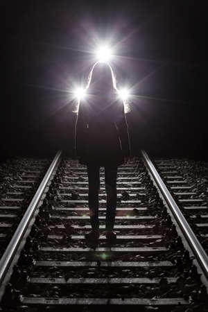 Woman in front of train before suicide