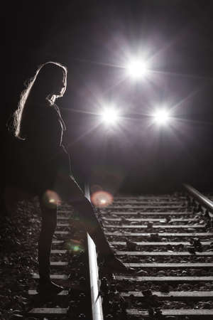 to commit: Girls going to commit suicide next to train