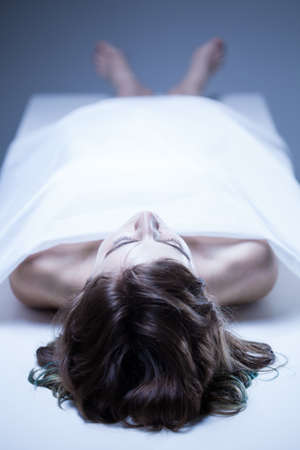 corpse: Corpse of young woman in the mortuary