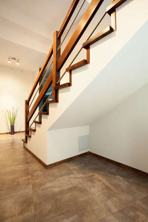 View of staircase in a modern house photo