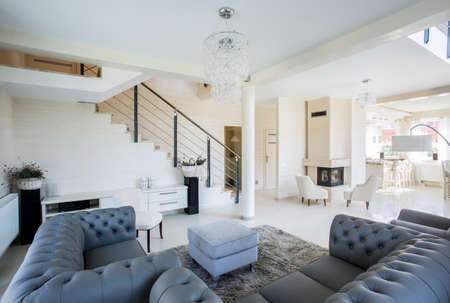 Luxury and traditional design in luxury apartment Stock Photo