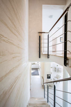 lightsome: Modern luxury interior with bright marble stairs