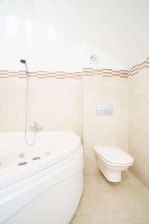 Whirlpool bath in luxury and modern bathroom photo