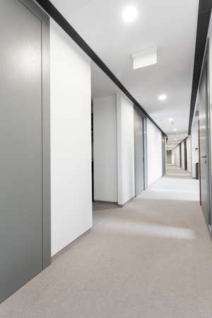 work office: View of hall in modern business centre Stock Photo