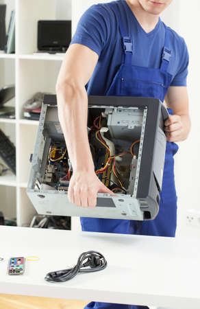 Computer specialist working in professional computer service