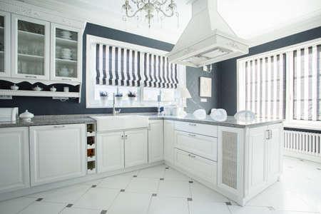 新しい豪華なスタイリッシュなキッチンの写真 写真素材