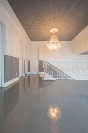 granting: New marble floor in the hall on the first level Stock Photo