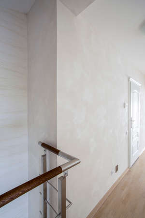 anteroom: Vertical view of hallway in luxury apartment