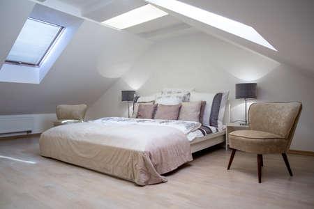 Beauty luxe hotelkamer met een tweepersoonsbed