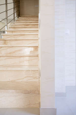 lightsome: Vertical view of marble stairs in luxury apartment
