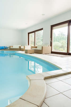 swimming pool: Private swimming pool in modern luxury apartment