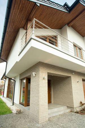 現代のフロントと美住宅 写真素材