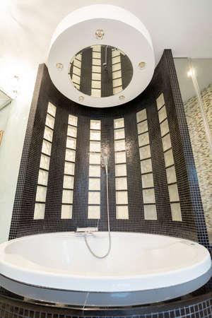 cristal: Cristal luxury bathtub with shower in exclusive bathroom Stock Photo