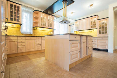 sty: Beauty and bright kitchen interior in traditional sty Stock Photo