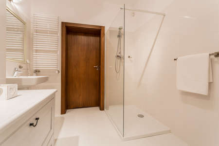bathroom tile: Exclusive bathroom with modern shower