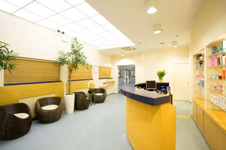 Reception and hall in luxury beauty center