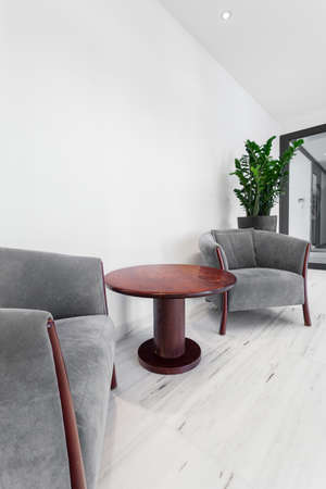 business lounge: Cozy place for relax in business building