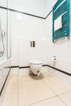 Interior of clean toilet at the hotel photo