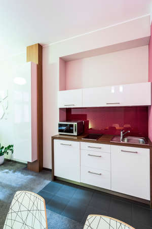 Small kitchen area in the apartment in city centre photo
