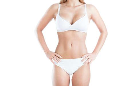 vientre femenino: Imagen de cuerpo de mujer bella y delgada Foto de archivo