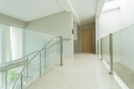 anteroom: Horizontal view of spacious hall in luxury apartment