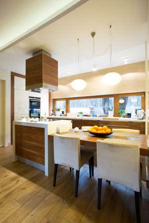 Stylish kitchen interior in modern house