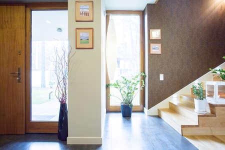 Designed anteroom in beauty luxury single-family home Stock Photo