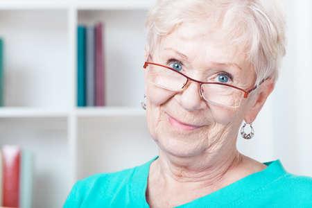 Photo of nice happy aged woman