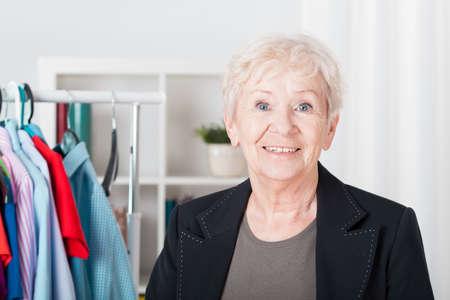 Photo of nice older elegant woman