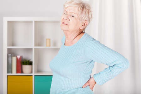 Older nice lady with terrible backache