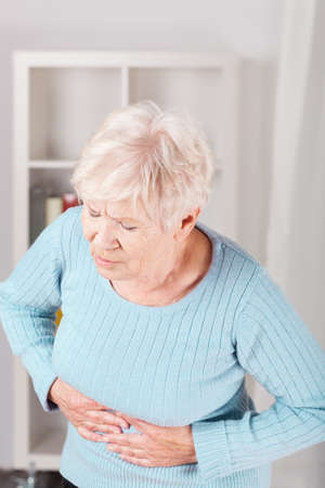 stomach pain: Older nice lady and horrible stomachache