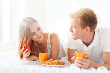 truelove: Romantic breakfast in bed on a sunday morning