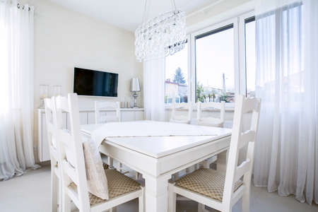 Horizontal view of dining room at new home