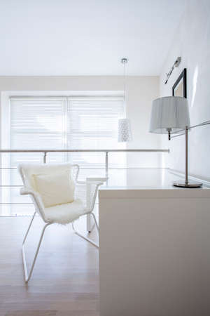 simple house: A simple office interior at the apartment Stock Photo