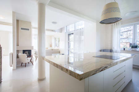 stone worktop: Interior of luxury house with marble elements