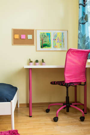 empty chair: Photo of modern estate workplace for kids