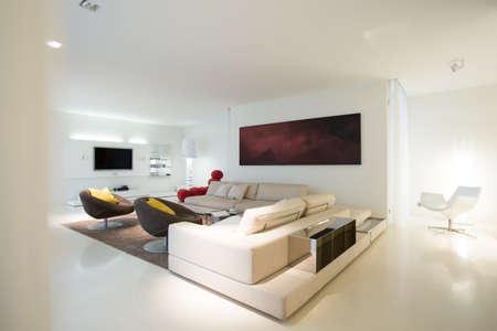 純粋な住宅の居間のビュー