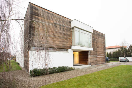 designed: View of designed house in the suburbs