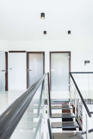 designed: View of modern staircase in designed house