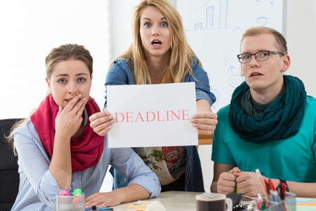 project deadline: Young architects having very short deadline for important project