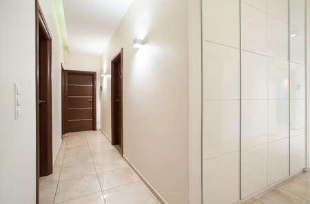anteroom: View of long anteroom inside bright apartment