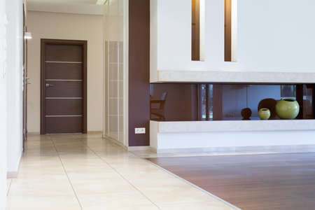 anteroom: View of apartment entrance inside modern interior