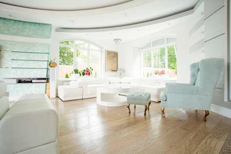 Armchair in vintage style in luxury salon photo