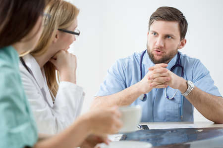 Image of doctors during medical meeting in hospital