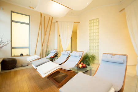 sauna: Exclusive design of new modern spa interior