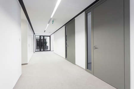 Empty bright hall in modern business office
